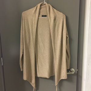 Zara Camel Waterfall Cardigan (S)